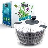 LACARI Kitchen & More Premium Salatschleuder | [3,1] Liter Fassungsvolumen | Salatschüssel mit Deckel | Salatschleuder Klein | Siebeinsatz | Einfaches Bedienen | Inkl. Gratis Ebook | Neue Gen. 2021