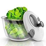 LACARI® Kitchen & More Premium Salatschleuder – [5] Liter Fassungsvolumen – Salatschüssel mit Deckel – Einfaches Bedienen