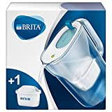 Brita S0672 Wasserfilter Style hellblau inkl. 1 MAXTRA+ Filterkartusche – BRITA Filter in modernem Design zur Reduzierung von Kalk, Chlor & geschmacksstörenden Stoffen , 22 x 10.5 x 24.5 cm