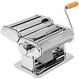 Monzana Nudelmaschine aus Edelstahl Pasta Maker Frische manuelle Pasta Walze für Spaghetti Bandnudeln Lasagne Cannelloni