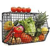Chas Bete Hängekörbe für die Küche zur Aufbewahrung von Obst und Gemüse mit S-Haken, hochwertiger Wandkorb, Drahtkorb für Badezimmer, Organizer für Theke