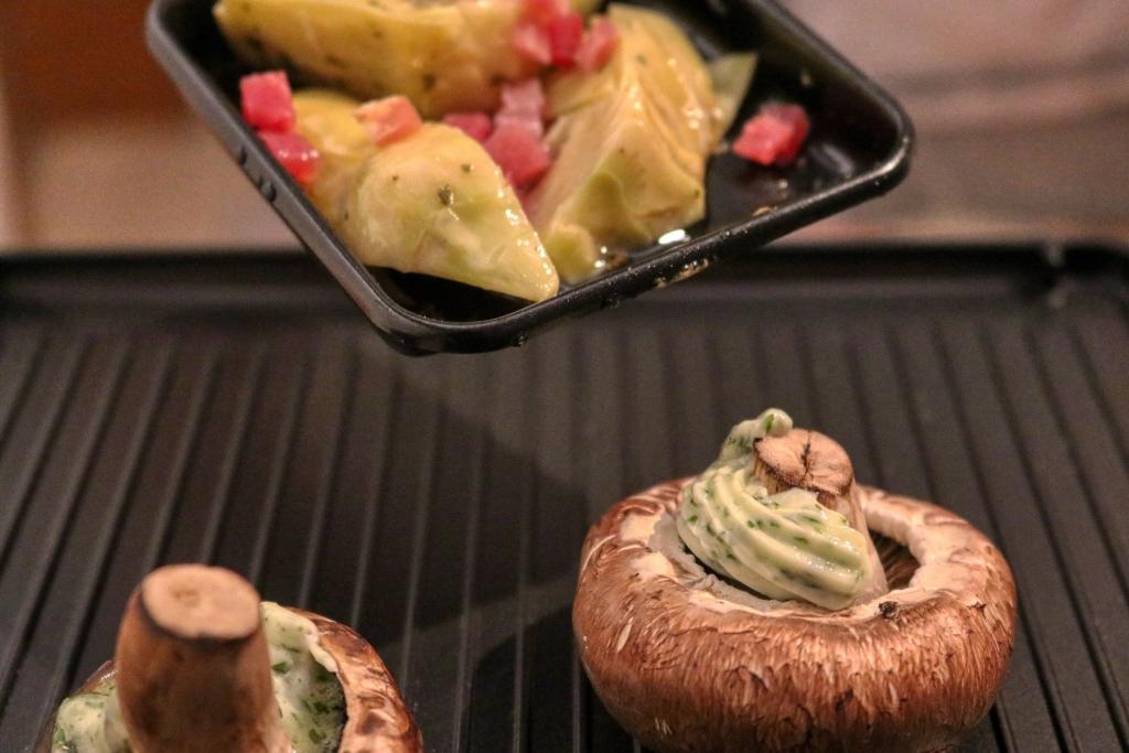 Raclette Fleisch, vegan, vegetarisch
